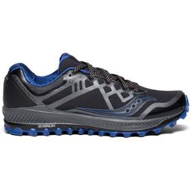saucony Peregrine 8 GTX Shoes Men, black/grey/blue